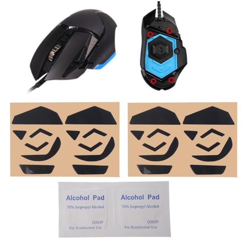 4 Sets 0.6mm Teflon Mouse Skates Mouse Stickers Pad For Logitech G502 Laser Mouse
