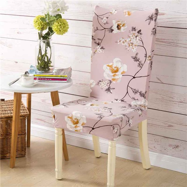 Amazing Printing Floral Stretch Chair Cover Big Elastic Seat Chair Covers Painting  Slipcovers Restaurant Banquet Hotel Home
