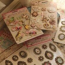 Смешанные декоративные 3D наклейки для подарка/фотоальбома/скрапбукинга для детей/украшения для изготовления свадебных открыток