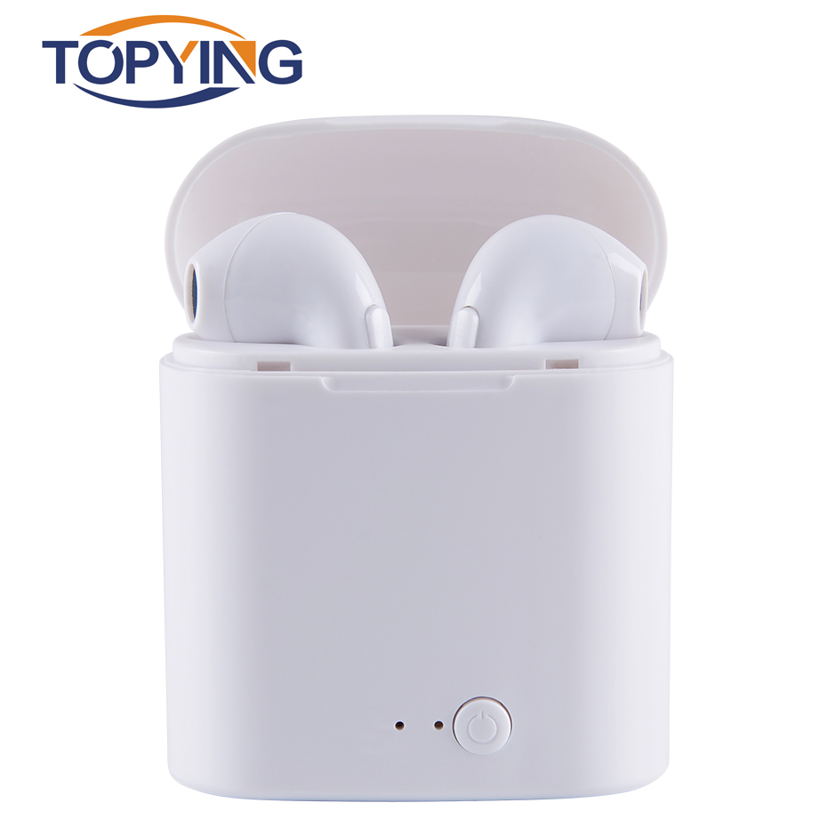 TOPYING Mini Wireless Bluetooth 4.2 Earphone For Samsung IPhone In-Ear With Mic For Music Sport Earphone For Phone стринги мужские с бабочкой черно красные s l