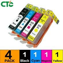 4 шт. Compatibl для 655 чернильный картридж с чернилами hp Deskjet 3525 струйный картридж 4615 4625 5525 6520 6525 принтер с чипом