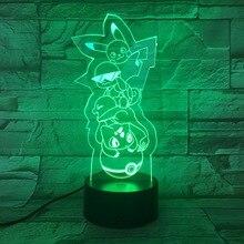 Pokemon Go Pikachu Figure LED Nightlight for Children Room Decor Battery Night Light Holiday Present Bedroom Table Lamp