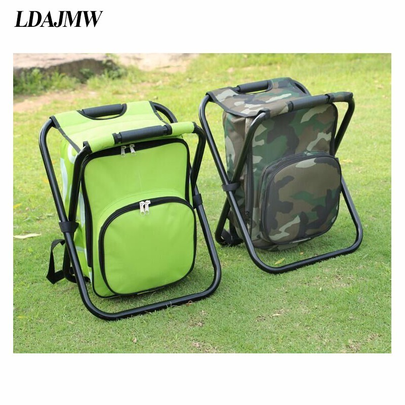 ice fishing lawn chair covers hire leeds ldajmw outdoor leisure time bag portable travel storage foldable backpack hiking camping beach in bags from home