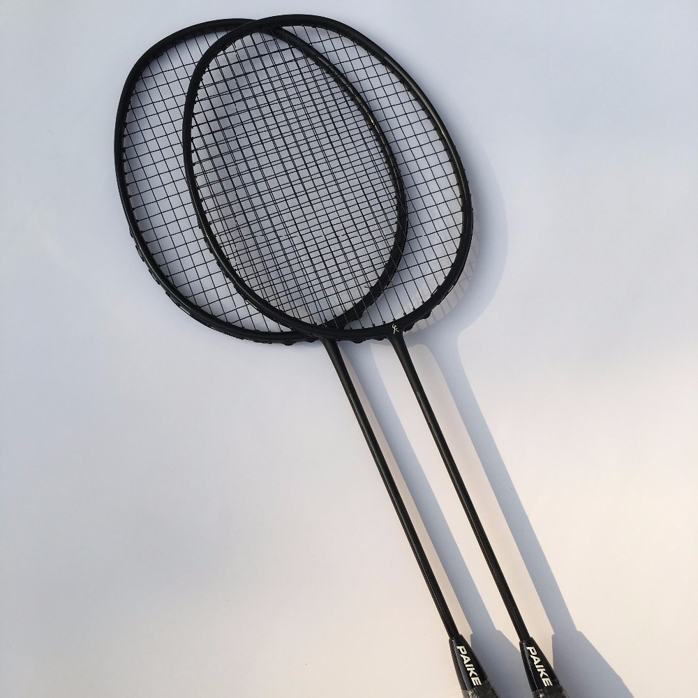 1 pc free shipping 4U 82g woven Badminton Racket 100% carbon fiber training Badminton Racquet 30LBS