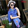 1Pc New Fashion Elegant Autumn Winter Women Lady National Style Embroidery Wrap Warm Shawl Scarves