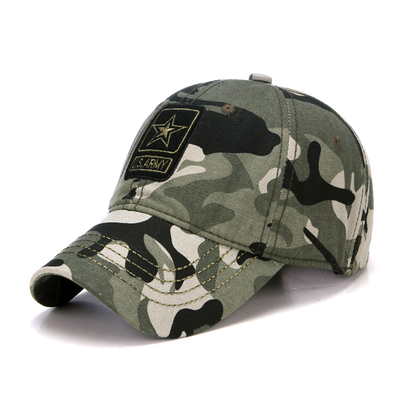 Fashion Pentagram Camo U.S. Army Outdoor Baseball Cap Casual Desert Jungle Cap Men Women Hats Casquette Hats Chapeu Touca Homme jxgxsx spring summer mens army camouflage camo cap cadet casquette desert camo hat baseball cap hunting fishing blank desert hat