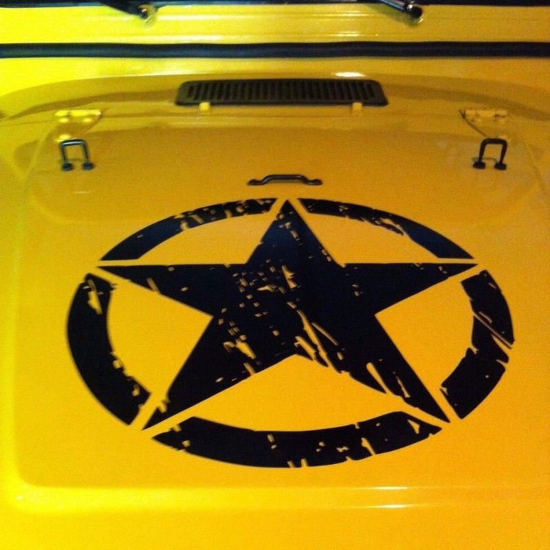 Image 5 - 50cm Stars Car Stickers and Decals For Jeep Hood Auto Decal Engine Cover Car Vinyl Car Accessories 3 Colors-in Car Stickers from Automobiles & Motorcycles