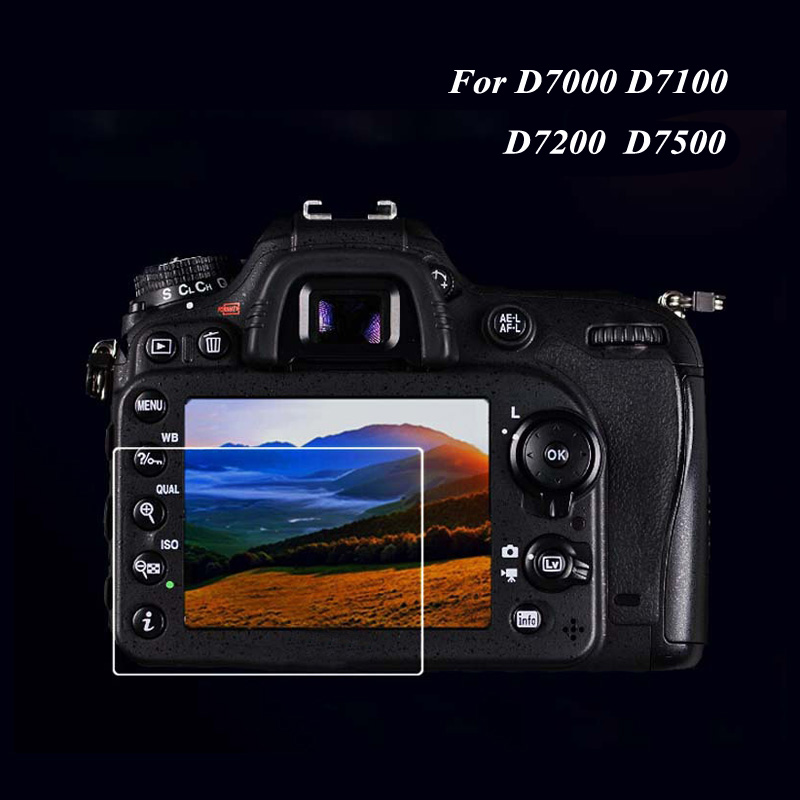 9H Ultra-thin Camera protector lcd Screen Protector For nikon D7100 D7200 Premium tempered glass film For Nikon D7000 D7500 DSLR d7000 rear back cover shell with lcd button fpc for nikon d7000 for nikon