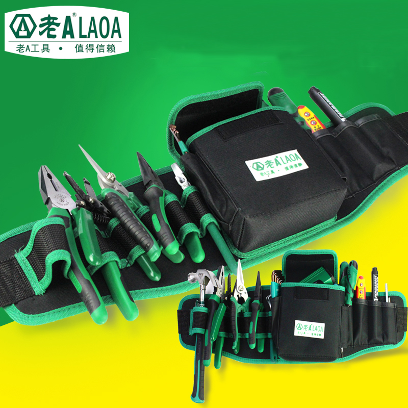 LAOA Repair Toolkit Multifunction Tool Pockets  600D Water-proof Oxford Cloth Repair Tools Package