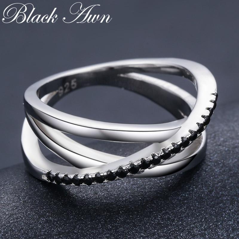טבעת נישואים לנשים ספינל שחור   Baguet 3