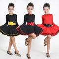 Long Sleeve Latin Dance Dress For Girls Competition Latin Dress For Girls Ballet Dancing Dress Kids Girl  Latin Dance Costumes