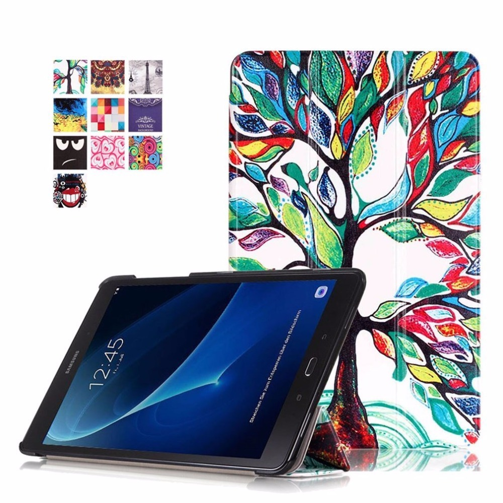 Case for Samsung Tab A6 10.1 2016 SM-T580 SM-T585 PU Leather Folio Case Stand Cover for Samsung Galaxy Tab A6 T580 T585 Funda