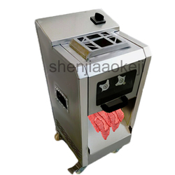 Elektryczny ze stali nierdzewnej krajalnica do mięsa  300 kg/h mięso kostkowania machineMultifunctional automatyczna maszyna do cięcia mięsa 220v2200w 1 pc