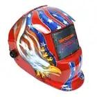 Capacete da soldadura Automática Mudar Banda de Cabeça Máscara de Solda Máscara de Solda Soldador TIG Máscara Águia Vermelha
