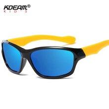 0334be860fe4 KDEAM Kids Sport Sunglasses Polarized Shield Children Sun Glasses  Anti-dazzle With Design Case KD9833