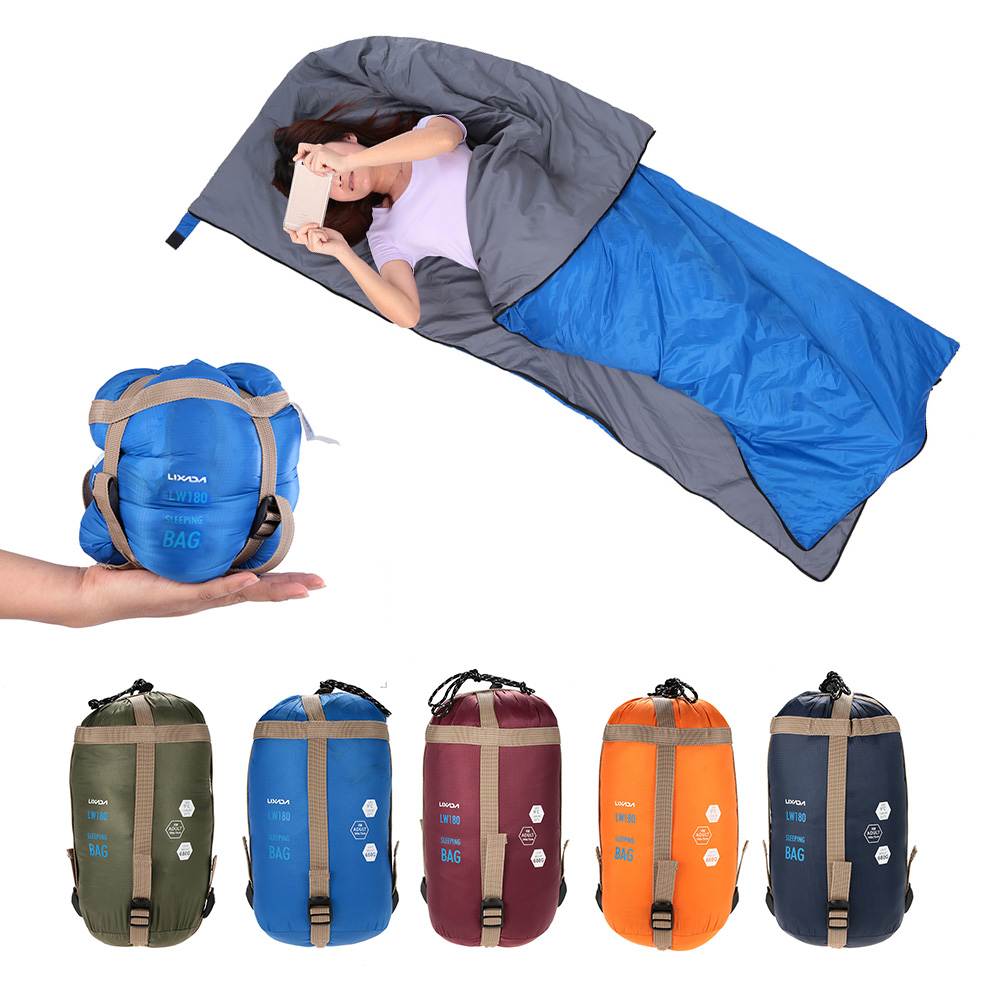 LIXADA 190 * 75cm Outdoor Envelope Sleeping Bag Camping Travel Hiking Ultra-light Sleeping Bag Travel Bag Hiking LW180 680g camping sleeping bag