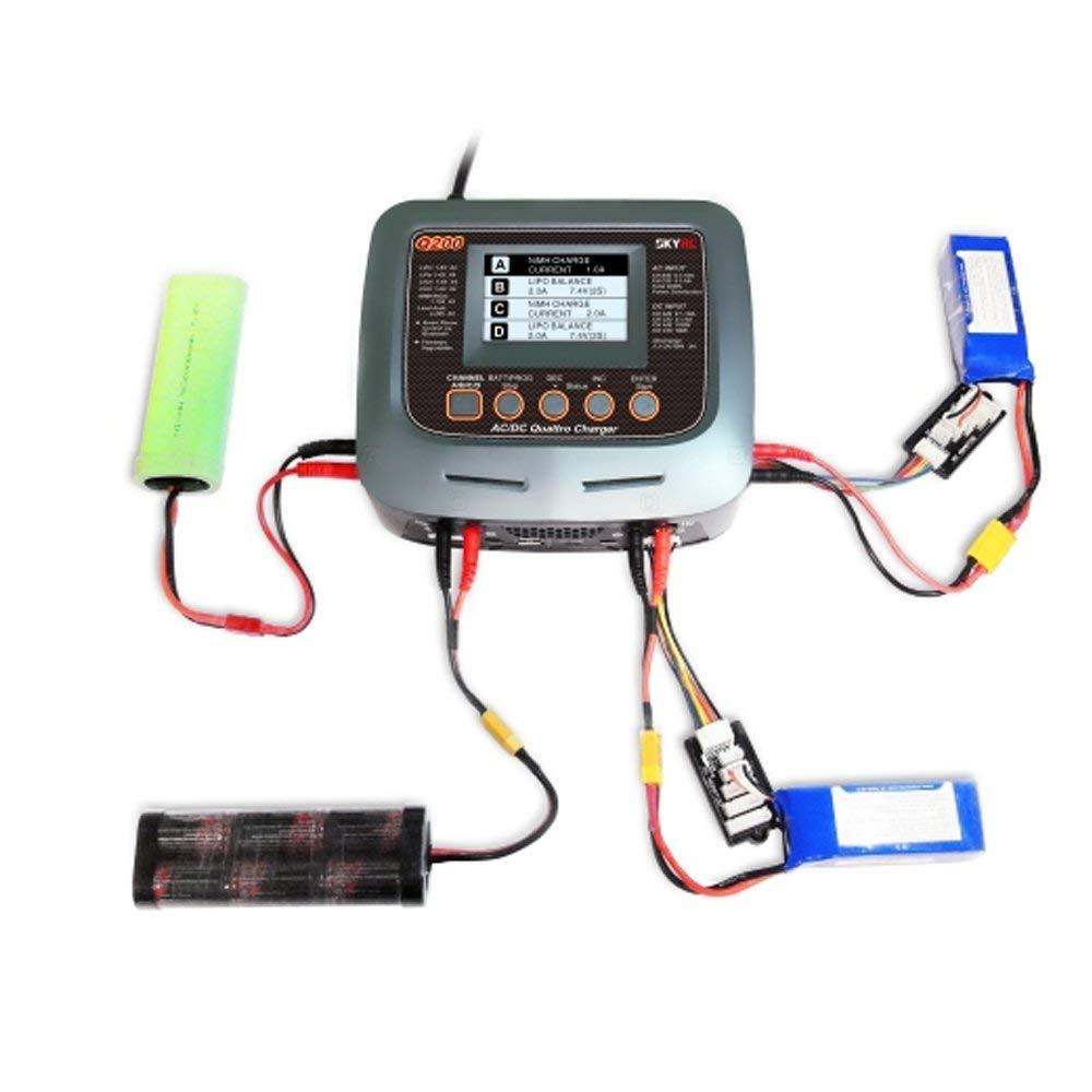 SKYRC Q200 1 a 4 intelligente caricatore/Scaricatore AC/DC per la batteria Lipo/LiHV/Litio ferro /Agli Ioni di litio/NiMH/NiCD/Piombo-acido della batteria di RC