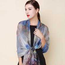 2016 hiver 100% réel soie écharpe Châle hijab wrap pour femmes dames style long printemps Summer Beach cover-up 175x108 CM(China (Mainland))