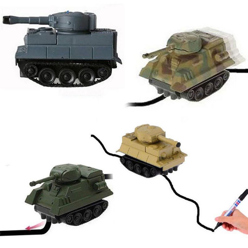 18 Inductive Car Line Follower Diecast Toys Trucks Vehicle Magic Pen Toy Tank Excavator Construt Follow Any Line You Draw 24