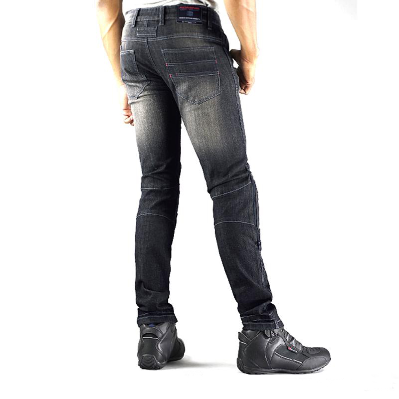 TKOSM High Quality WJ-737S Motorcyle Pants for Men Moto Racing Jeans With Knee Pad Trousers Moletom Moto Comfortable Trousers