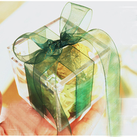 50pcs lot unique personalized Acrylic transparent candy box chocolate container birthday party clear wedding favor boxes