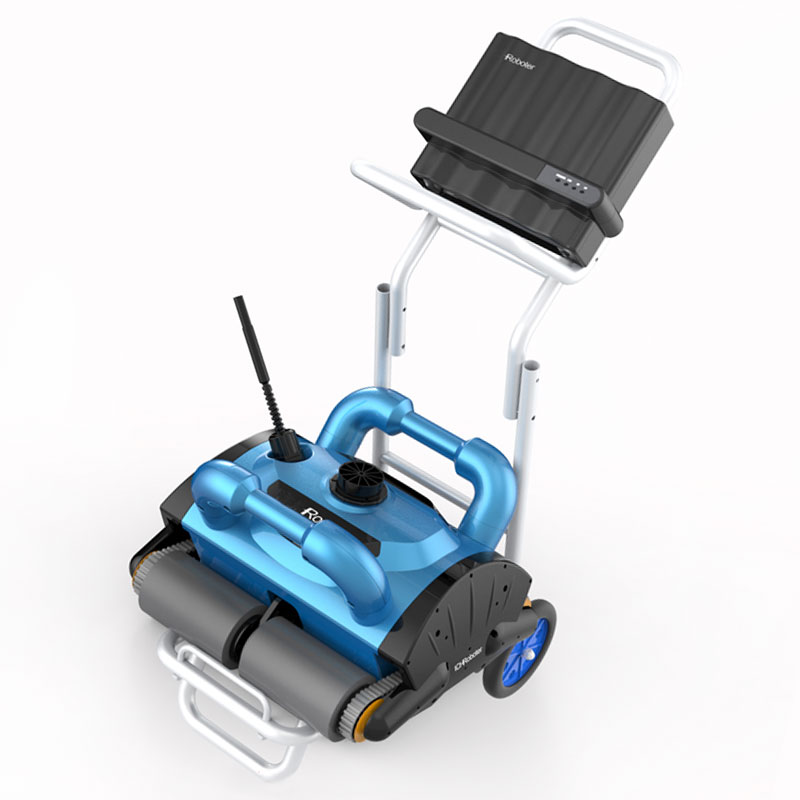 Automatic Robotic Pool Cleaner Swimming Pool Robot Cleaner Remote Control Pool Vacuum Cleaner Robot with Cable Accessories Cleaning Tools     - title=