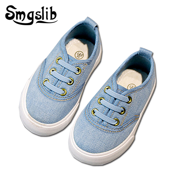 425f9df9675a Size 21-36 New Canvas Children Shoes Kids Canvas Sneakers boys trainers  Jeans Flats Girls