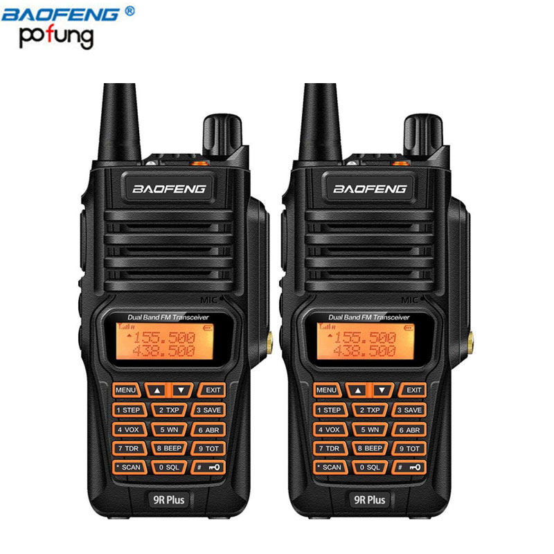 2pcs Baofeng UV 9R Plus Waterproof font b Walkie b font Talkie 8W Two Way Radio