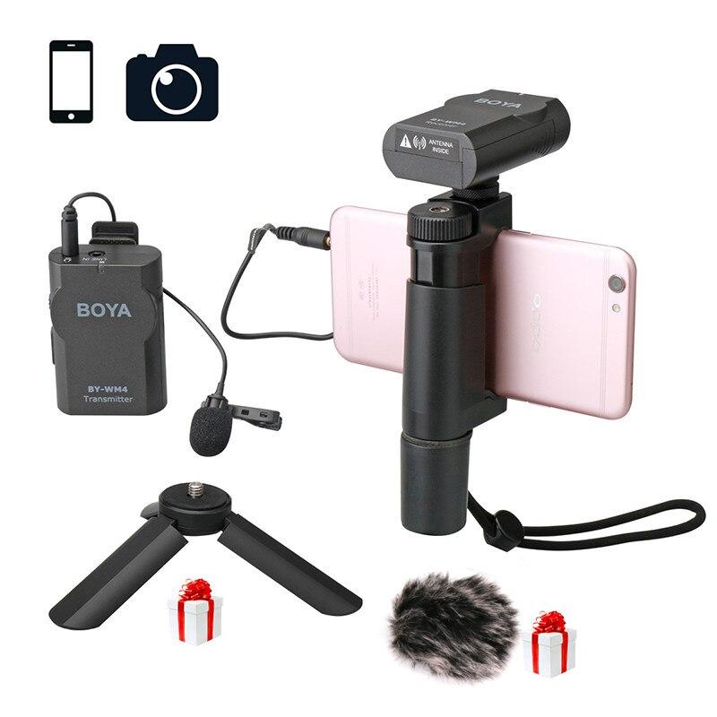 Ulanzi BY-WM4 телефон беспроводной микрофон Professional для iPhone X 8/Android/DSLR камера Действие, петличный микрофон записи видео