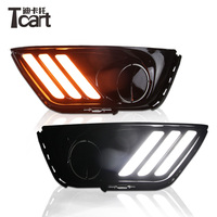 Tcart For Jeep Compass 2017 2018 Yellow Flowing Signal Function Plug&Play Car DRL Lamp 12V LED Daytime Running Light Daylight