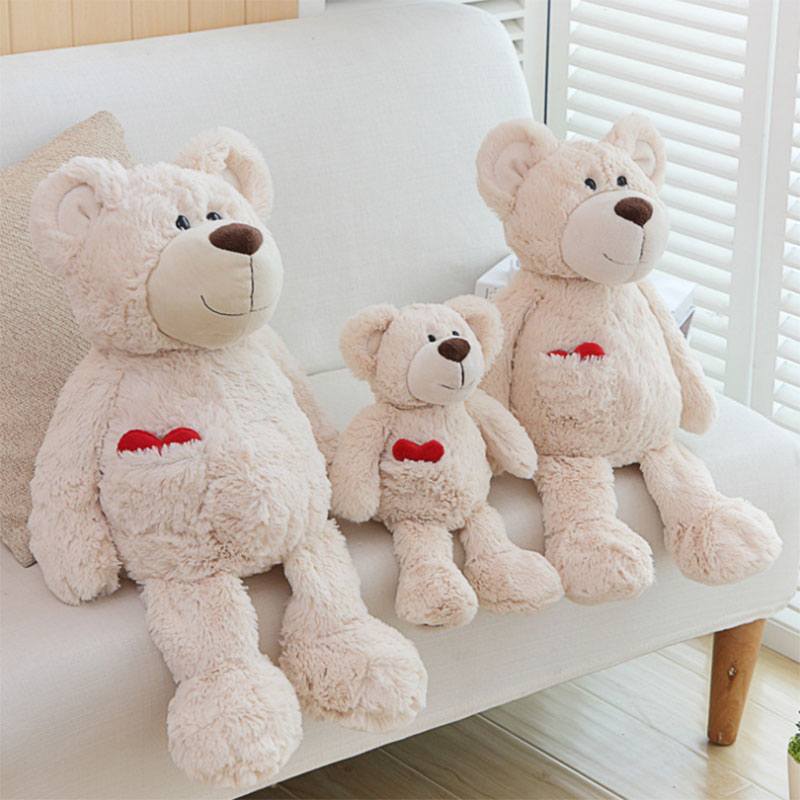 Soft Teddy Bear White With Red Heart 30cm Not Suitable For Kids Under 3 Years