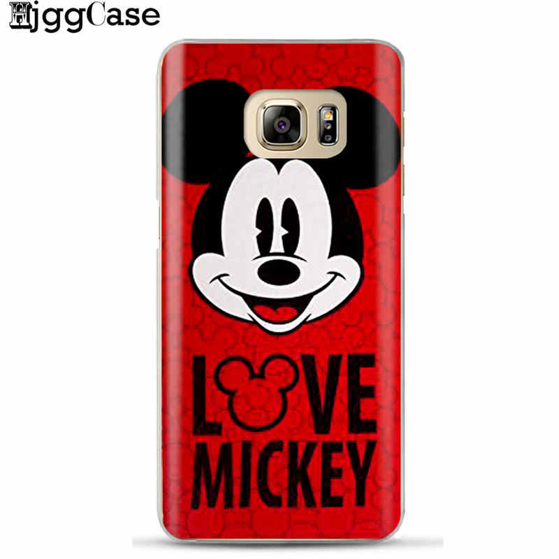 Cute mickey Minnie Silicone Cover Case For Coque Samsung Galaxy S6 S7 Edge S8 S9 Plus J3 J4 J5 J6 J7 A5 A7 2017 A6 A8 Plus 2018