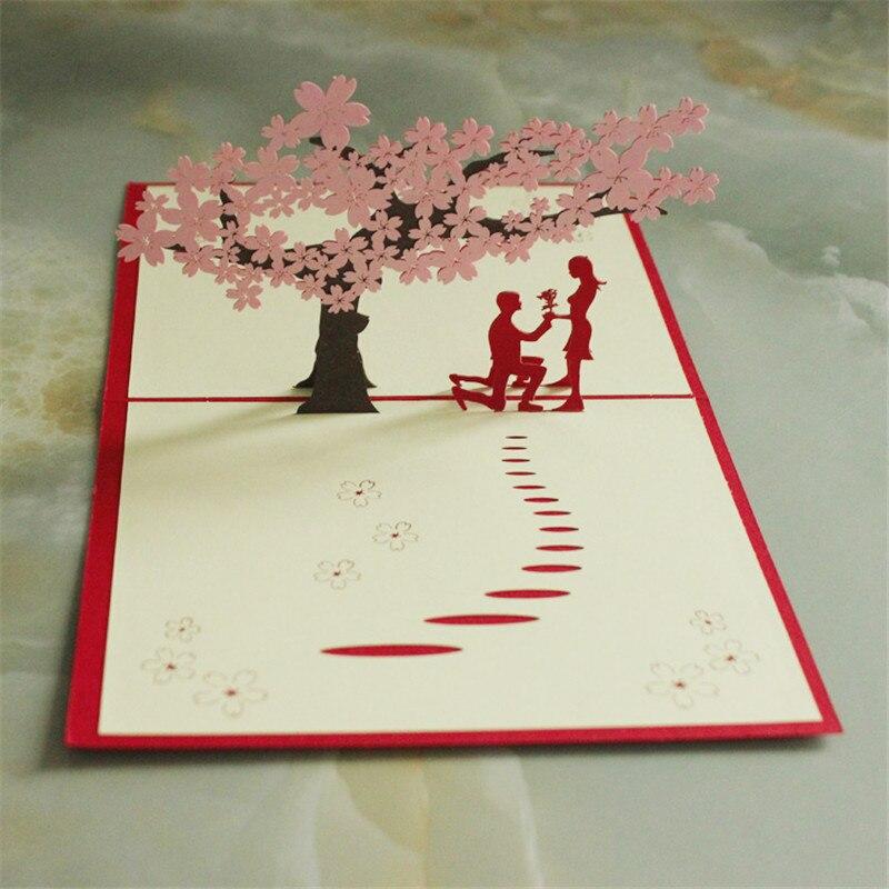 Объемная открытка своими руками дерево