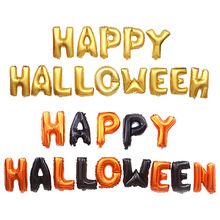 14pcs Halloween Balloon Letter Sets happy halloween Party Decoration Aluminum Foil Balloon Kits/lot Ambience Scene Layout