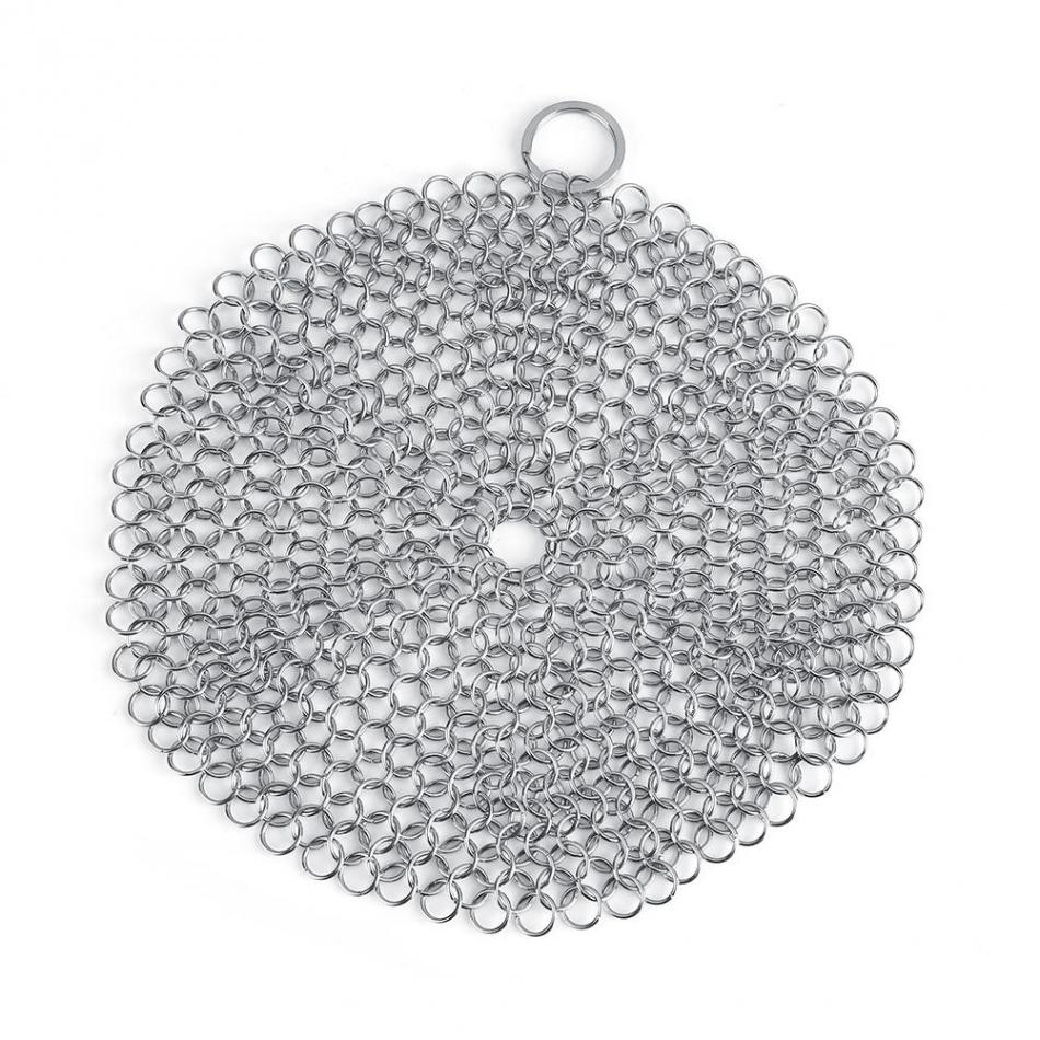 Stainless Steel Chainmail Scrubber Rust Proof Scraper Cleaner for Kitchen Gadgets Wash Tool Pan Dish Bowl