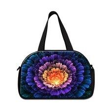 Hot Sale Large Capacity Flower Print Women Travel Bags Brand Girls Canvas
