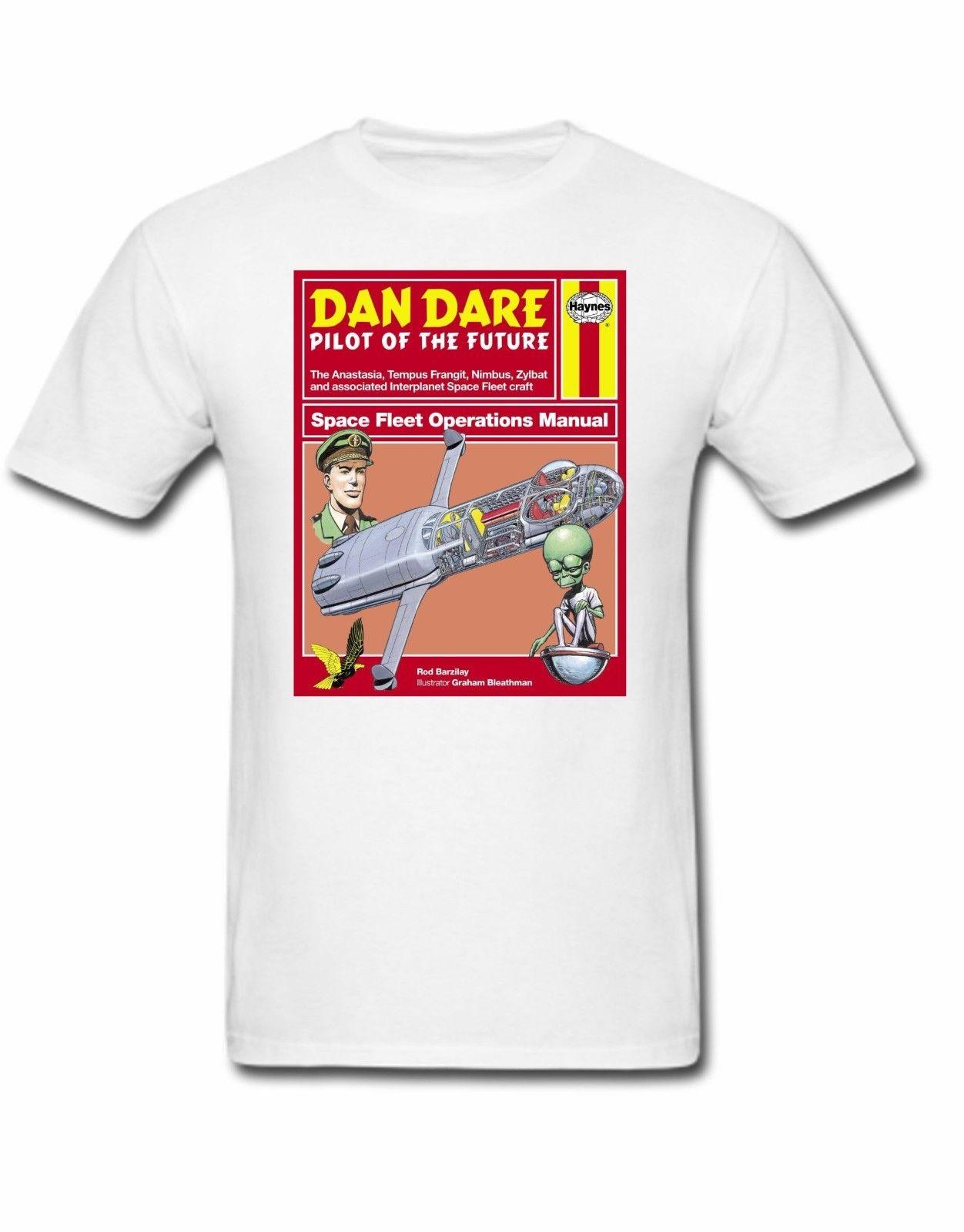 US $11 45 18% OFF|Dan Dare T shirt Haynes manual 50s 60s 70s 80s 90s 00s  space mekon pilot earth Cool Casual pride t shirt men Unisex New Fashion-in