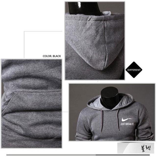 High JUST BREAK IT Printed Sportswear Men Sweatshirt