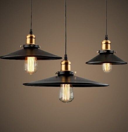 E27 רטרו מנורת ראש זהב נברשת מסעדה יצירתית חצאית שחורה קטנה אחת
