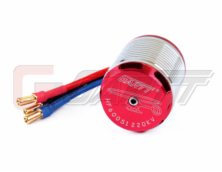 Gartt 1220KV Brushless Motor For 550/600 Align Trex RC Helicopter Red Color Wtih Case gartt hf450l 1800kv brushless motor for trex 450l 480 helicopter