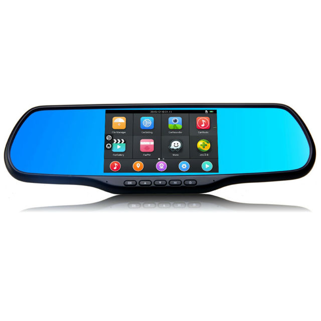"""EZONETRONICS Car 5"""" Wifi Rearview Mirror Monitor with GPS DVR FM Transmitter Android 4.4 Quad Core 512MB DDR3 8G Flash LC2200"""