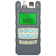 Gris 1MW AUA 80A medidor de potencia óptica rojo máquina de luz de fibra probador de decaimiento fuente de luz roja 1 5 km