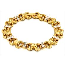 Trendy Gold Color Rhinestone Bracelet For Women Female Gift Wholesale Braslet 2018 Fashion Bijoux Jewelry(China)