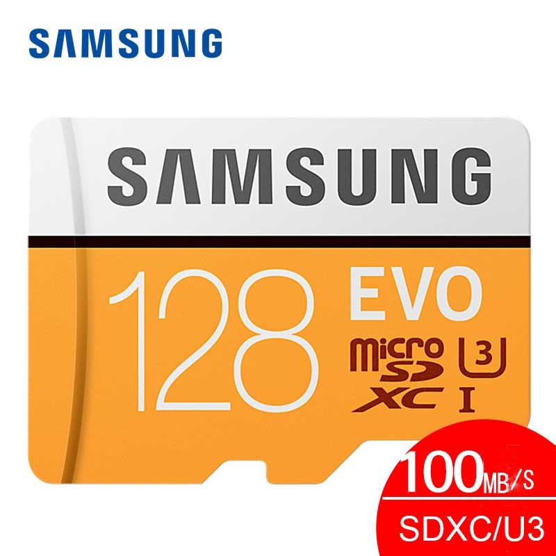 карта памяти Оригинальный Samsung Micro SD карты памяти 128 ГБ EVO Class10 Водонепроницаемый TF <font><b>Flash</b></font> картао де memoria карты SDXC UHS-1 для смартфоны micro sd 128 ГБ