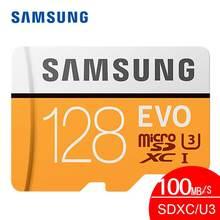 карта памяти Оригинальный Samsung Micro SD карты памяти 128 ГБ EVO Class10 Водонепроницаемый TF Flash картао де memoria карты SDXC UHS-1 для смартфоны micro sd 128 ГБ