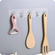 Strong Kitchen Home Hooks Transparent Suction Cup Sucker Wall Hooks Hanger For Kitchen Bathroom