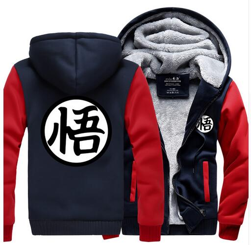 Men's Clothing Anime Dragon Ball Hoodies Super Saiyan Dragonball Z Son Goku Zipper Hooded Sweatshirts Hiphop Harajuku Fleece Hoodies Men Jacket Refreshment
