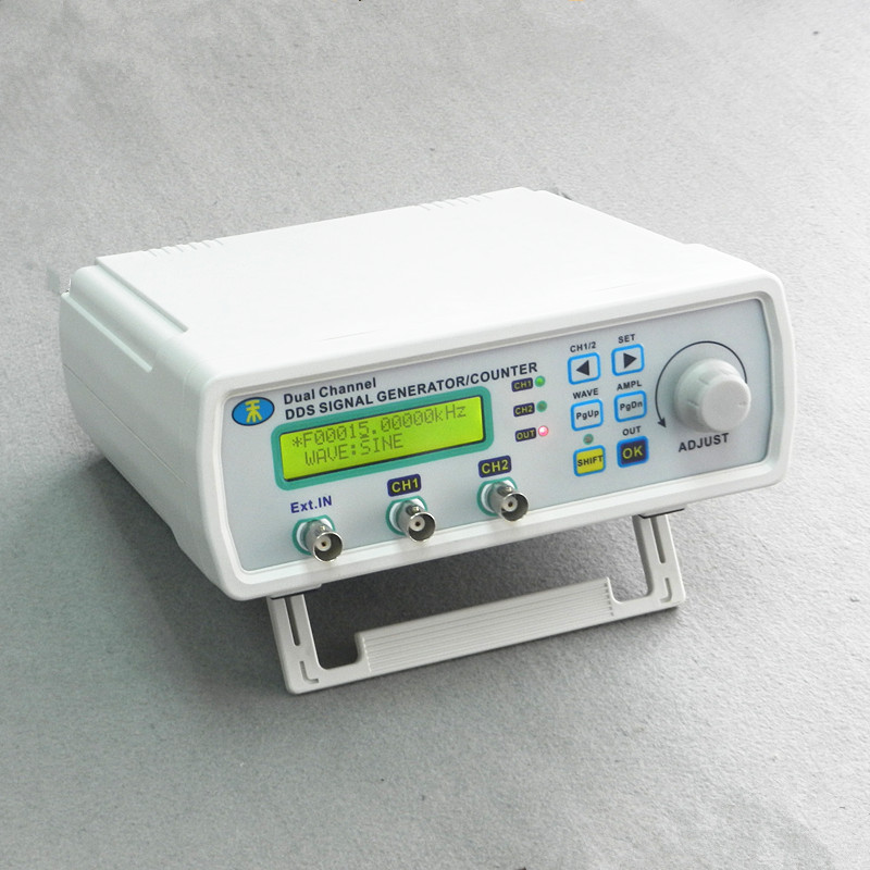 MHS-5200A High Precision Digital Dual-channel DDS Signal Generator Arbitrary waveform generator Frequency meter 200MSa/s 25MHz original hantek1025g pc usb function arbitrary waveform generator 25mhz arb wave 200msa s dds usbxitm interface hantek 1025g