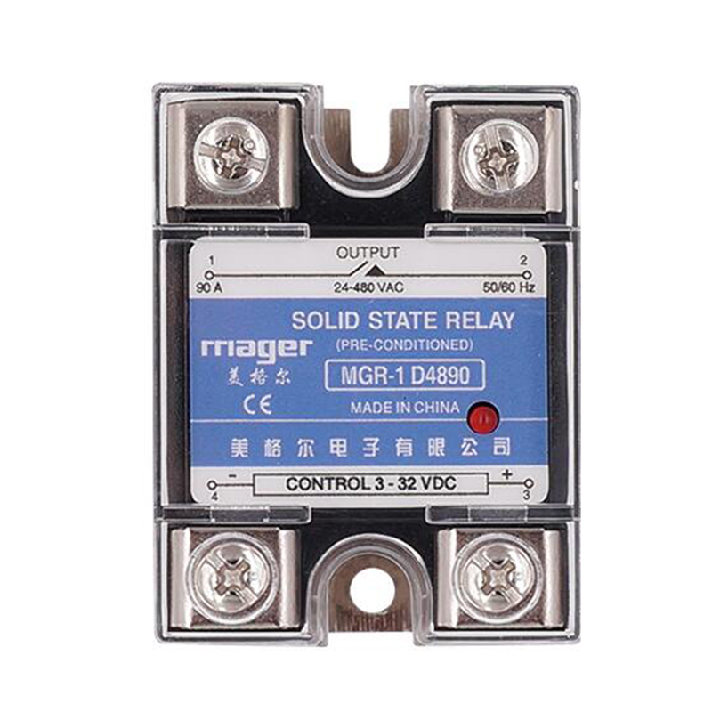 Smart Home Relay Power Accessories SSR 90A Single Phase Solid State Relay DC Control AC MGR-1 D4890 Load Voltage 24-480V
