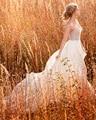 Amdml Marfim Chiffon de Cristal Metálico Corpete Sheer Nudez Net Vestidos de Casamento 2017 Frisado Circular Saia Trem Da Varredura vestido de Noiva